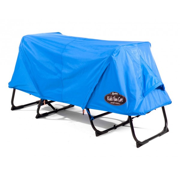 Off-the-ground original tent cot, with complete rainfly for kid