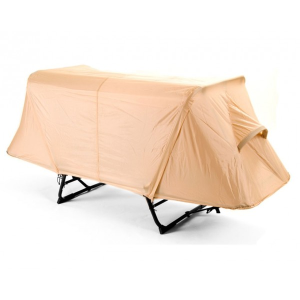 Off-the-ground original tent cot, with complete rainfly