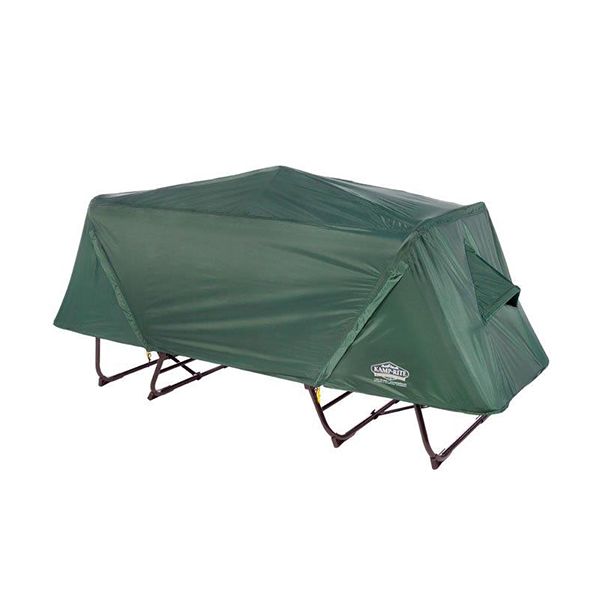 Off-the-ground original XL tent cot, with complete rainfly
