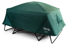 Off-the-ground original double tent cot with rainfly