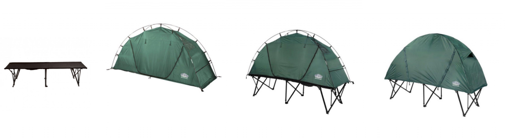 Off-the-ground combo tent 3 in 1