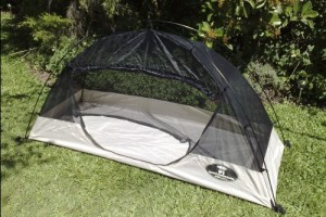 Ultra light tent with integral mosquito net